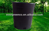 round plastic black flower pot nursery pot 15 gallon tree pot