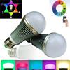 Led Lamp WIFI intelligent iphone controlled wifi led bulb RGB speaker bulb