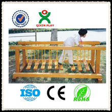 Kids Swing Bride play game/wooden outdoors play equipment/kids adventure game sell/QX-11059B