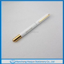 Milk white Chinese metal roller pen for kids