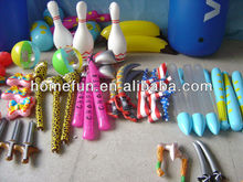 2013 cheap vinyl kid toys printed - inflatable knife and bat