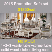 8802 on sale15 promotion pearl shine white wooden frame carving blue gild home furniture living room fabric classic sofa set