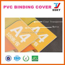 Transparent clear hard cover for book binding cover material