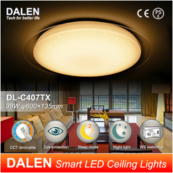 DL-C407T 3800lm 38W smart/intelligent LED ceiling light with remote control