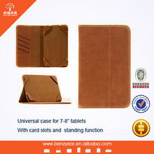 "2014 hot sell fashion 7-8"" universal tablet leather cover"