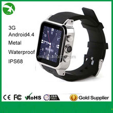 Top Factory ip67 waterproof smart watch for watch phone new fashion in 2015 support android, bluetooth, wifi, GPS