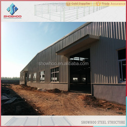 industrial construction light steel galvanized warehouse sandwich panel prefabricated steel structure building