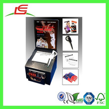 E0040 China Wholesale Cheap Glossy Black Cardboard Suggestion Box With Business Card Pocket