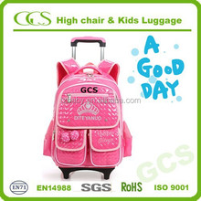 2015 Child Fashion Student Book Bag, Multi-Use Kids Trolley Backpack School Bag
