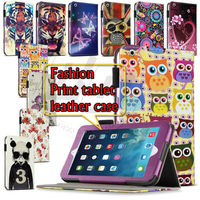Print Floral Butterfly Pattern Stand Leather Skin Cover for iPad Air tablet Flip Cover For Ipad 5