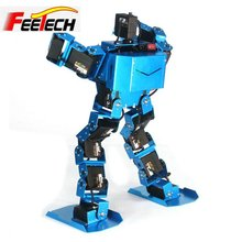 DIY toy robot kit, walking robot with claw17 degrees of freedom humanoid biped robots