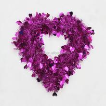 PET/PVC fashion Wholesaleheart shaped wedding hair wreath wholesale decoration wedding wedding decoration materials
