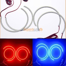 New M3 E46 E36 E38 E39 Multi-Color LED Halo-Angel Eye Rings kit with REMOTE