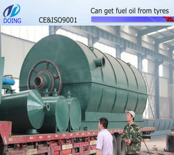 12 ton waste tyre recycling line getting oil and carbon