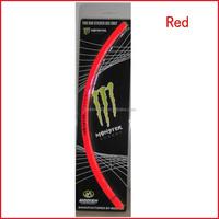 18 inch RED MOTORCYCLE CAR RIM WHEEL DECAL,TAPE STICKER,Wheel Rim Stickers Stripe Decals Vinyl Set
