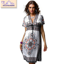 ML18034 China Whole Women Casual Dress High Quality Factory Price Ladies Women Print Dresses