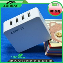 4 port usb travel charger/portable mobile phone charger/quick charge 2.0