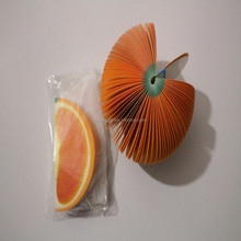 Orange shaped sticky notes