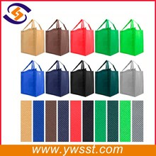 Reusable Reinforced Handle Grocery Tote Bag Large size - 10 Color Variety
