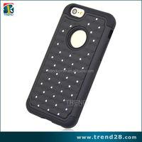 diamond sticker silicone+pc phone case for iphone 6