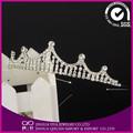 Diamantes de imitación de cumpleaños tiaras/diademas para adultos de fiesta nupcial tiara corona de la boda