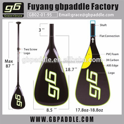 Wholesale inflatable SUP Paddles Custom Made Carbon with12K Carbon Fiber Shaft Sup Paddle