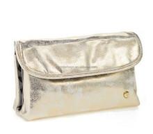 Fashion Shinny Gold Foldover Cosmetics Case