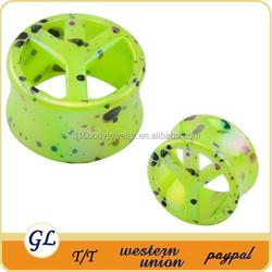 Body Jewelry Acrylic Ear Plug Peace LOGO Custom Ear Plugs