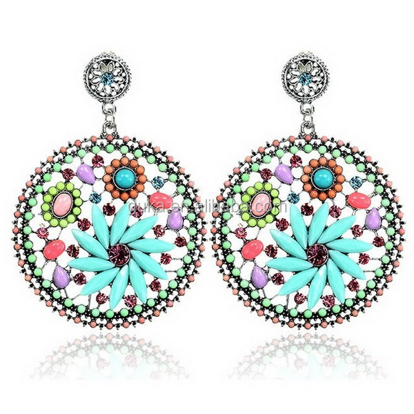 2015 the hot sell floral fashion jewelry handmade beaded for Costume jewelry sold by the dozen