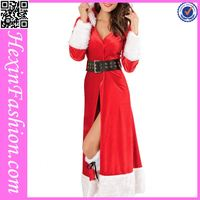 Wholesale Red Girls Christmas Dance Costumes with Hat
