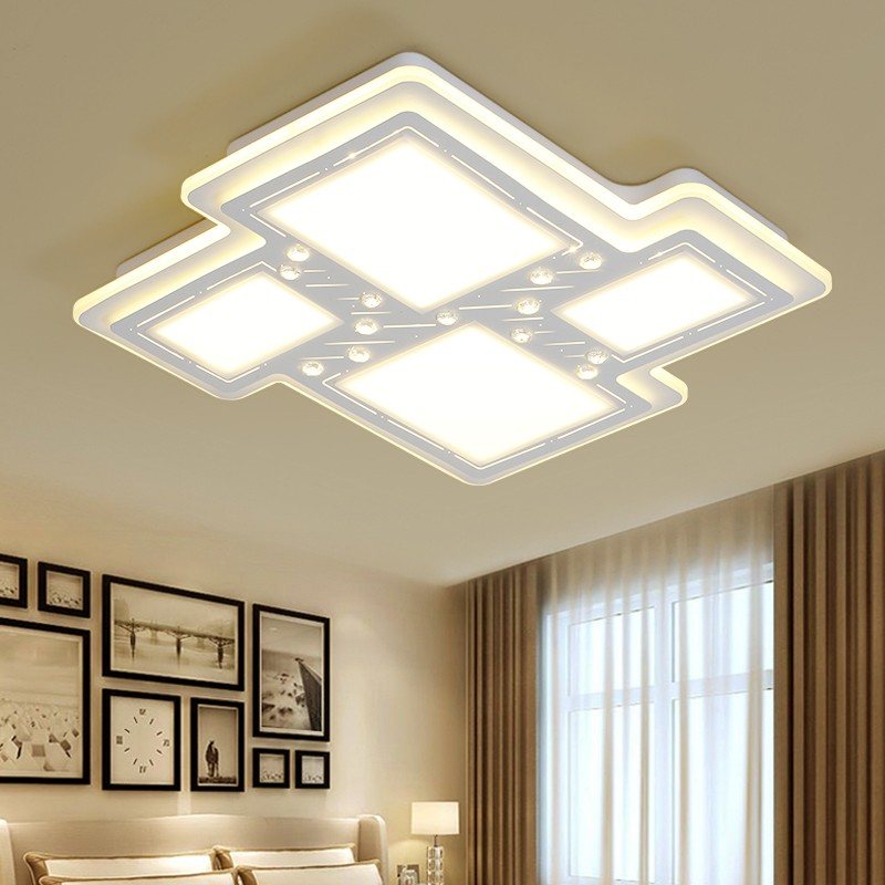 Simple minimaliste tarare forme led lustre luminaire for Luminaire pour salon moderne