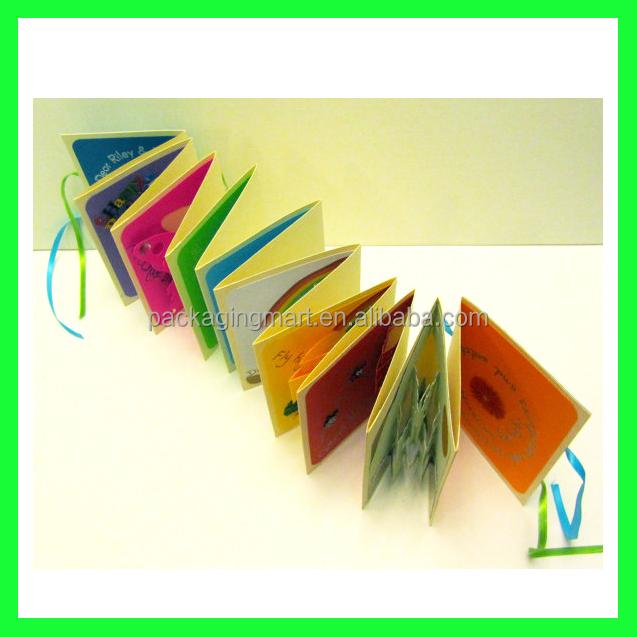 N779 2015 fashion design accordion book card handmade new born baby new born baby greeting card 4g m4hsunfo