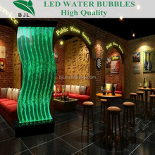 S shaped curve bubble wall luxury wedding house interior decoration