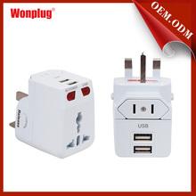 6a 250v Usb World Travel Adaptor With Uk/us/eu/au Plug