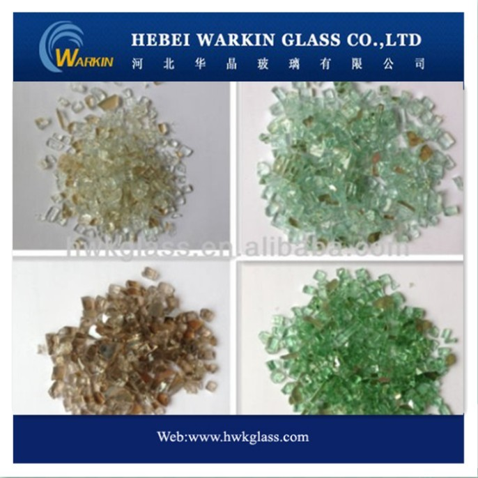 REFLECTIVE Fire pit Glass, crushed Glass, Fire Break Glass
