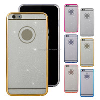 Factory Price Glitter Powder Mobile Phone PC Hard Back Case For iPhone 6 Plus