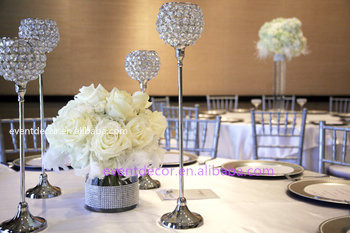 Beautiful Crystal CenterpiecesTall Silver Candle Holders For Wedding Centerpiece Buy Votive