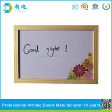 small portable printing whiteboard with wood border