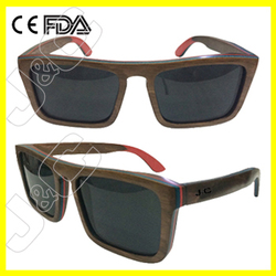 2015 wholesale bamboo sport sunglasses and wood glasses case with UV400 and FDA