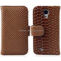 New Flip Leather Back Cover Flip pu case mobile phone accessories for the Galaxy S4 / i9500, accept paypal