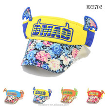 Wholesale Flower Printing Visor Baby Sun Hat With WIngs