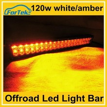 22 inch off road flash color change white/amber led bar light 120w with remote control