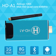 Private Design 2015 Newest TV Stick Android Dongle Amlogic S805 1G+8G Quad-core Android 4.2 MINI TV Dongle