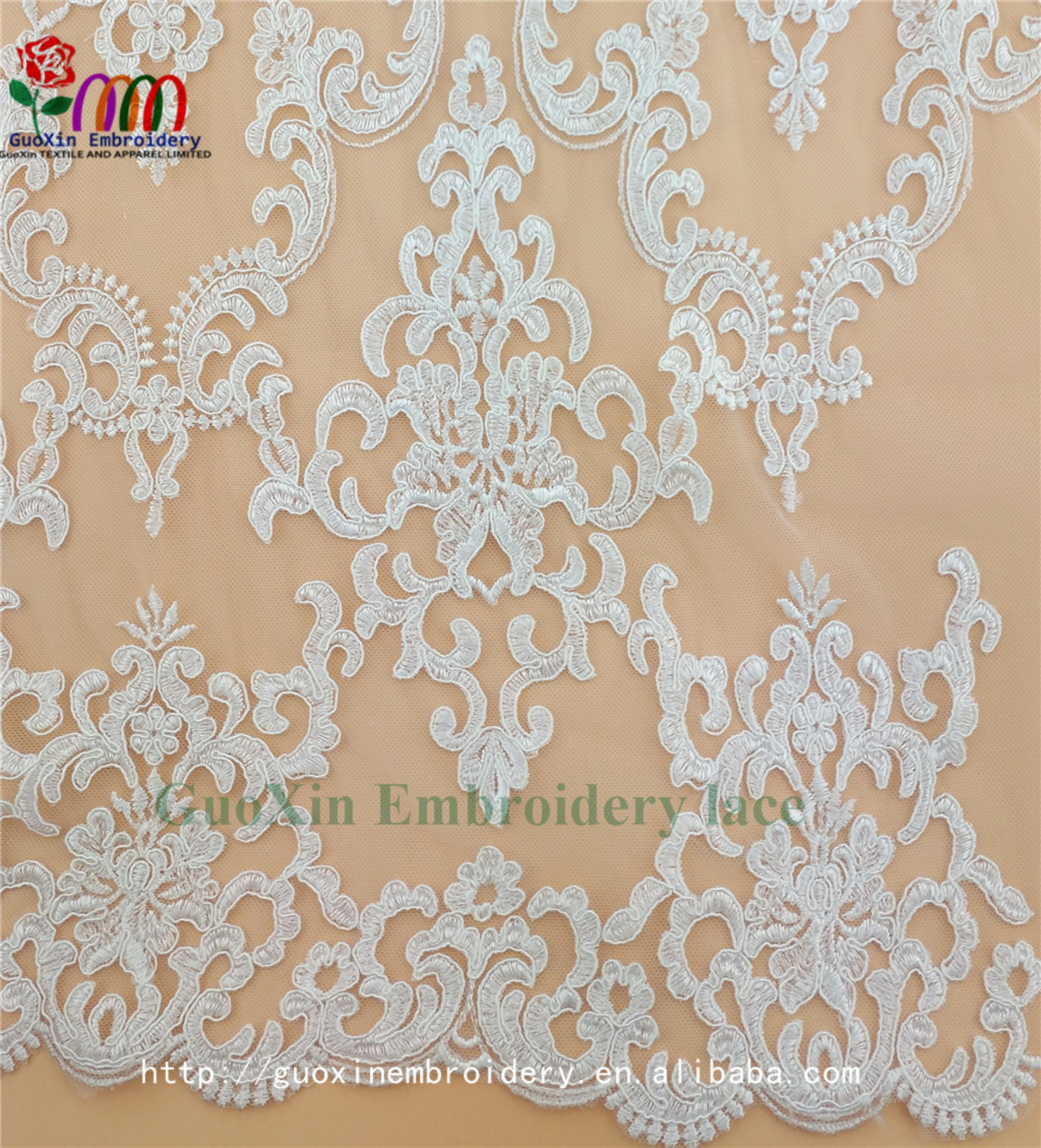 embroidery tulle manufacture wholesale wedding veil ivory lace fabric with cording (3).jpg