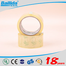 China Supplier high quality materials length 40m*40 micron carton sealing decorative adhesive bopp tape