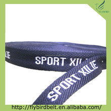 Jacquard polyester webbing for belts