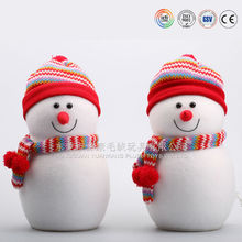 Lovely christmas snowman with cute clothes and hat