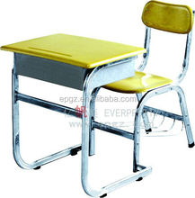 Single Student Desk And Chair, Junior Desk Chair Seat For Students, Modern Student Desk Chair Combo For School Classroom