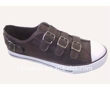 men's buckle casual canvas shoes