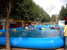 Water park inflatable pool, inflatable pool toys, Large inflatable swimming pool for sale D2027